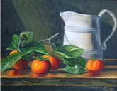 Persimmons and Pitcher